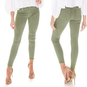 NWT Pistola Aline High Rise Skinny - Smudged Green